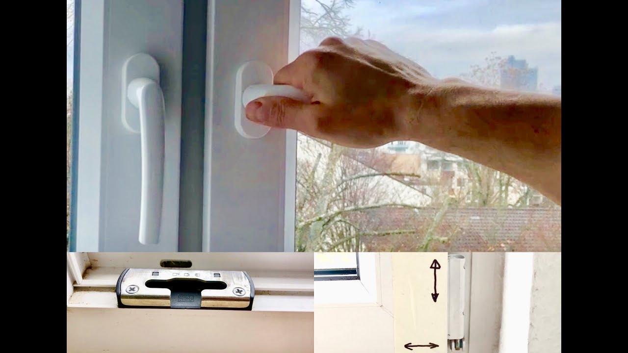 fenster und balkont r richtig einstellen youtube. Black Bedroom Furniture Sets. Home Design Ideas