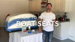 How to Repaint Vinyl Boat Seats