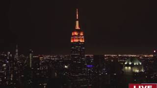 INCREDIBLE Music-to-Light Show at the EMPIRE STATE...