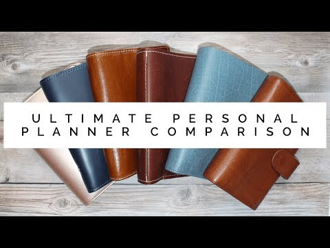 ULTIMATE PERSONAL PLANNER COMPARISON | Recollections, Filofa