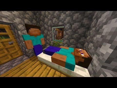 I left the Minecraft Faceless Steve world on while I slept.. (SCARED)