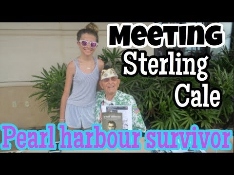 VLOG (part 1) - OAHU! - Meeting Sterling Cale, Pearl Harbour Survivor! //ReeSees