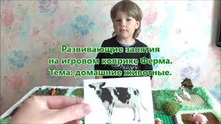 🐷  🐶 🐴 Развивающие занятия. Домашние животные. Игровой коврик Ферма.