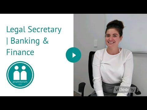 Legal Secretary | Banking & Finance