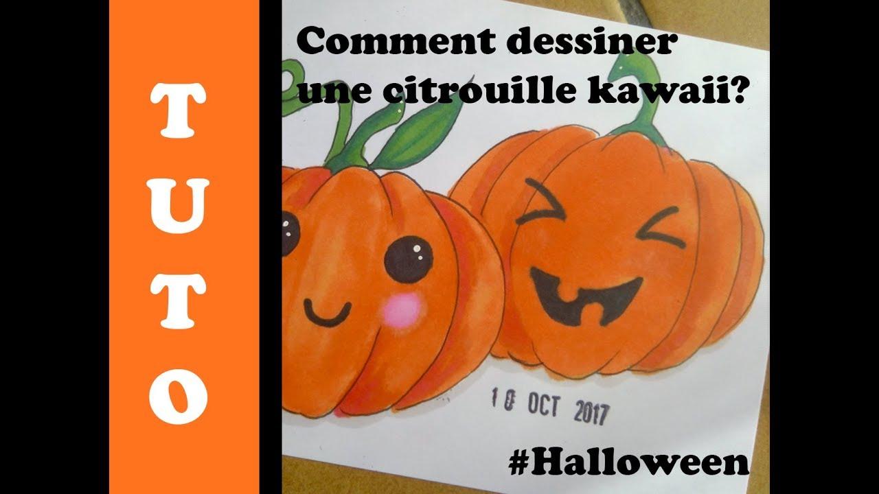 Citrouille Halloween Dessin Kawaii