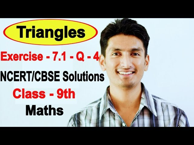 Chapter 7 Exercise 7.1 Question 4 - Triangles Class 9 Maths - NCERT Solutions