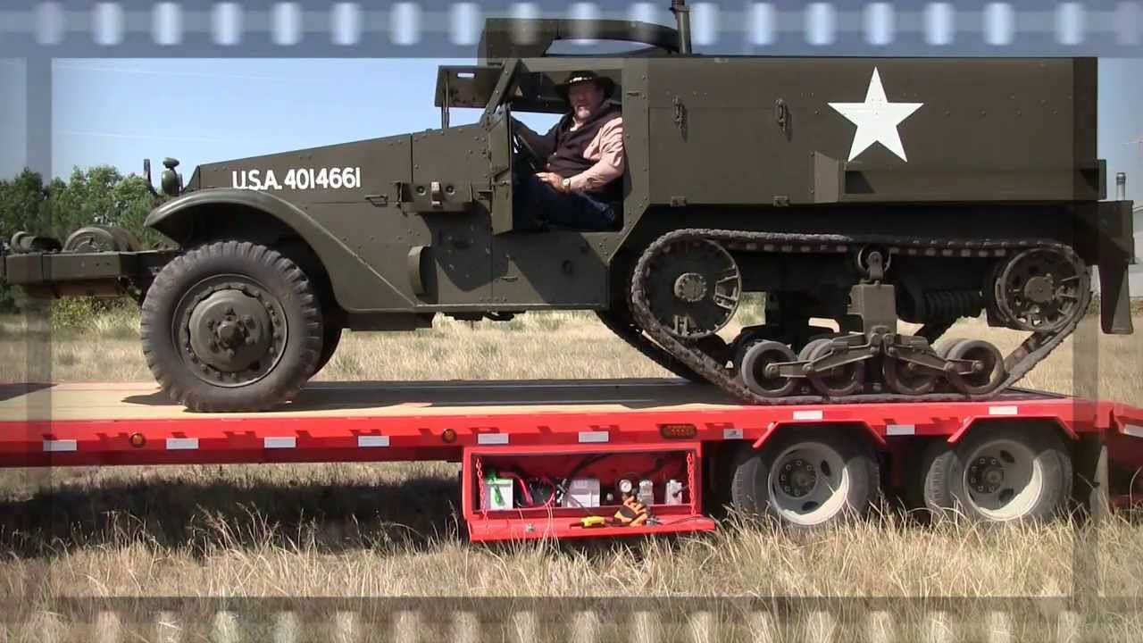 Tracks For Vehicles >> MrTruck drives a WWII Army Half-Track - YouTube