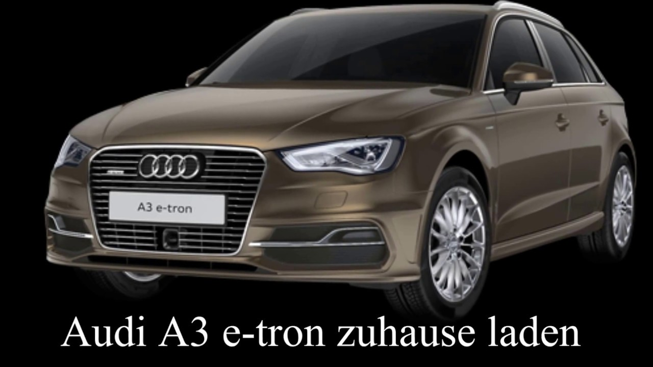 elektroauto steckdosenhybrid audi a3 e tron zuhause laden. Black Bedroom Furniture Sets. Home Design Ideas