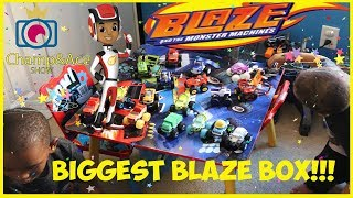 Biggest Blaze and The Monster Machines Toys Giant Surprise Box!!