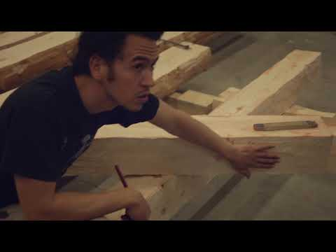 Medieval carpentry - building without nails. French Timber F