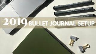 My 2019 Bullet Journal Setup - Minimal