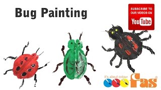 How to paint insects, bugs, ladybug by Folding Painted Paper   Easy Simple Painting for Kids