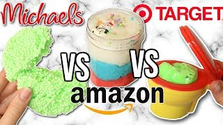 Michaels VS Amazon VS Target Slime Review! Is It Worth It?!