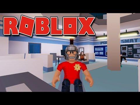 Roblox - VIREI POLICIAL E PRENDI OS LADRÕES ( Jailbreak )