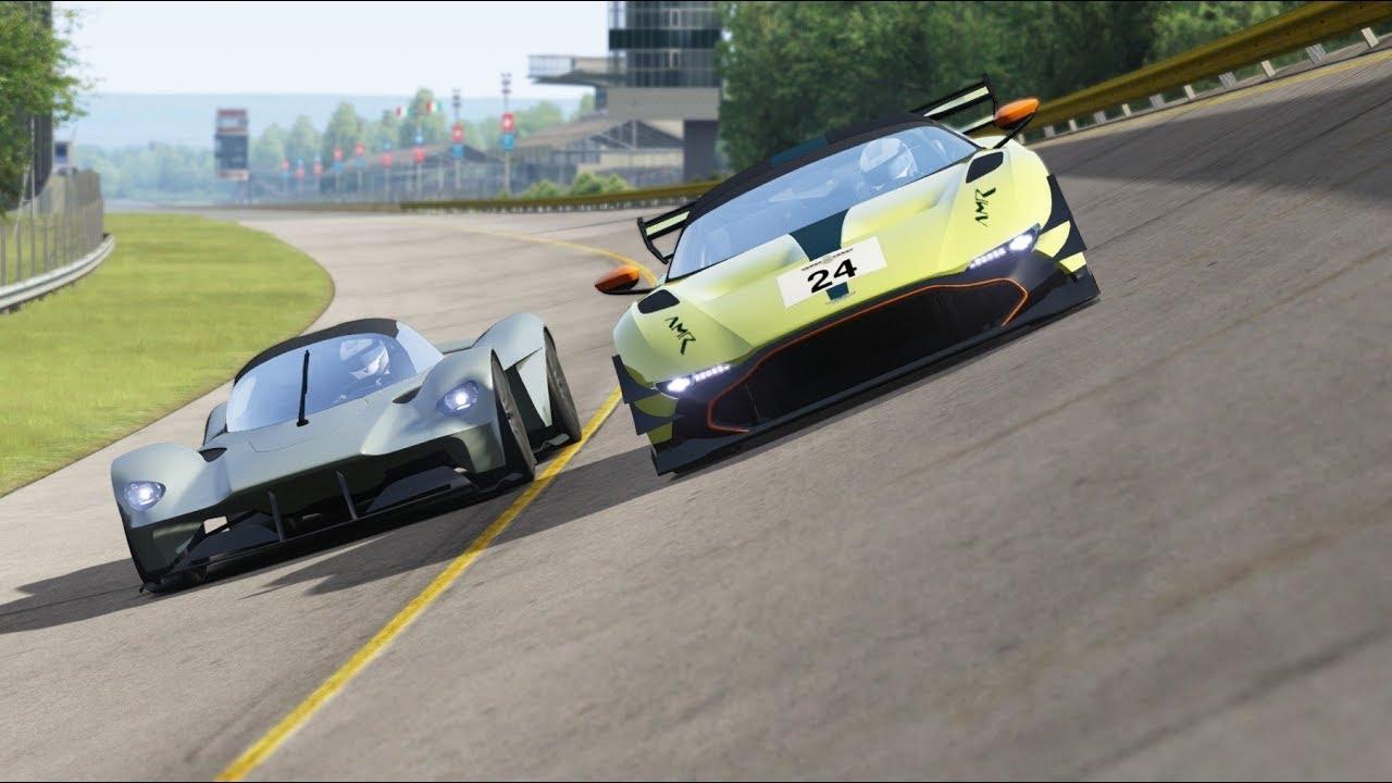 Aston Martin Valkyrie Vs Aston Martin Vulcan Amr Pro At Monza Full Course Youtube