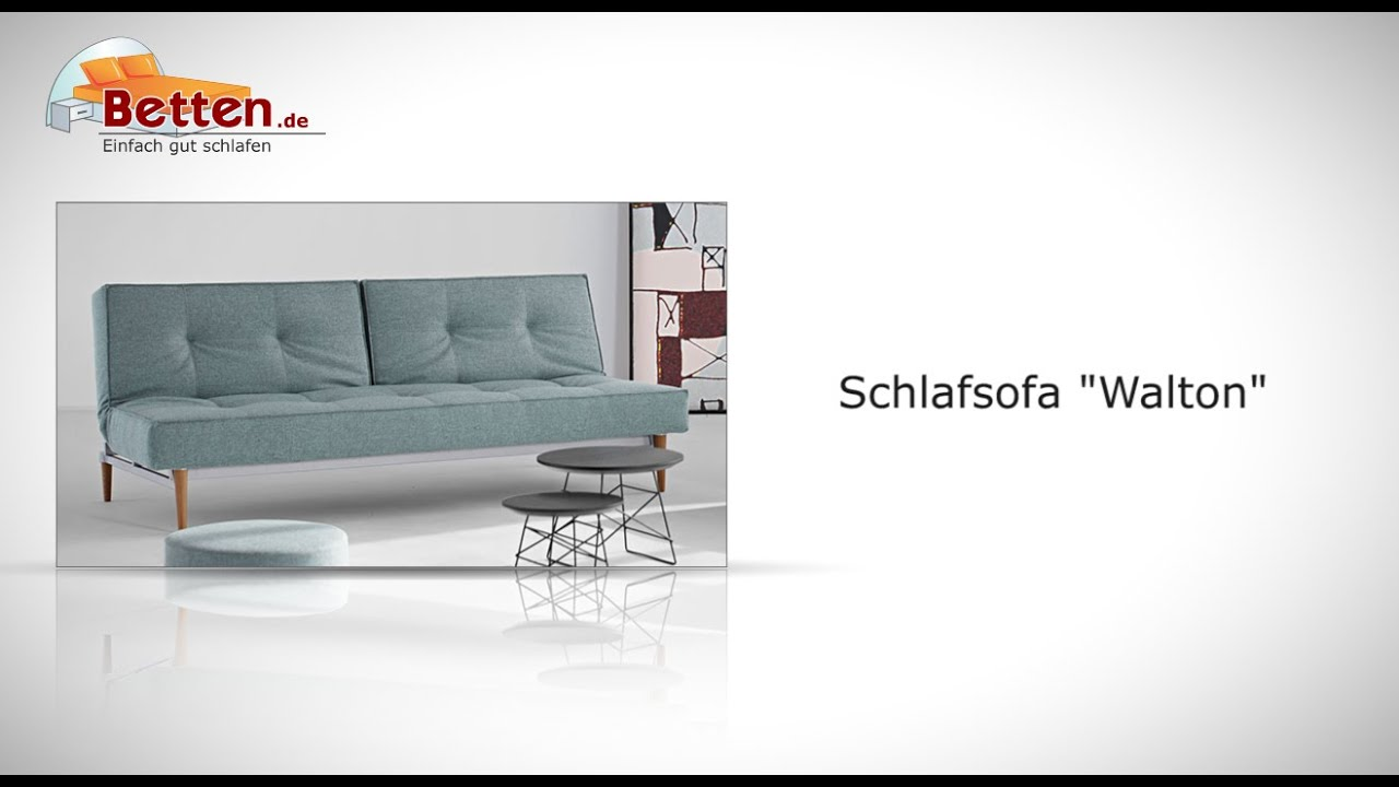 taschenfederkern schlafsofa in grau oder blau walton. Black Bedroom Furniture Sets. Home Design Ideas