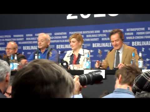 Spontaneous singing at press conference for Isle of dogs (Berlinale world premier)