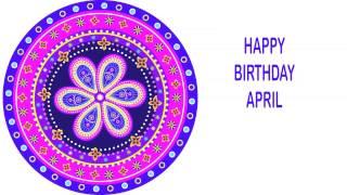 April   Indian Designs - Happy Birthday