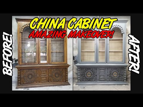 How I Used Paint And Stain To Makeover This Vintage China Cabinet