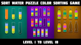 Sort Water Puzzle Color Liquid Sorting Game   Level 1 To Level 10 screenshot 1