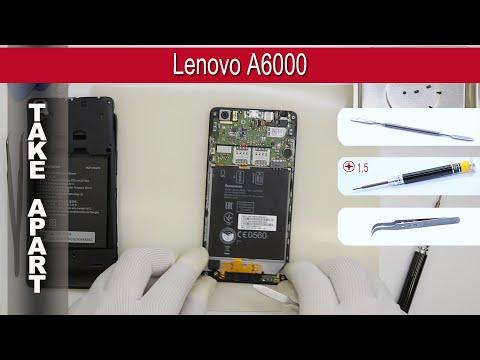 How to disassemble 📱 Lenovo A6000 Take apart Tutorial