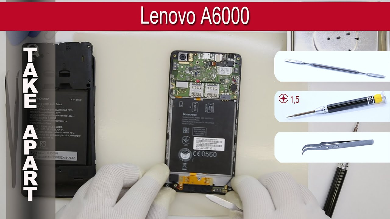 How To Disassemble Lenovo A6000 Take Apart Tutorial
