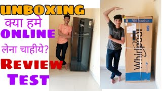 whirlpool refrigerator 265 ltr double door 3 star unboxing ll in hindi