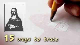 15 ways how to trace or transfer a photo, image, or drawing ■ Tracing Masterpieces