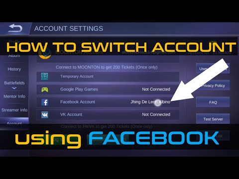 How To Switch Account Using Facebook (TAGALOG)