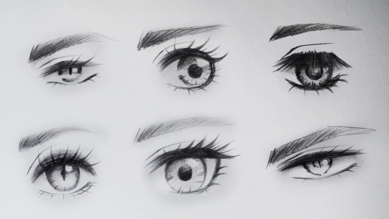6 BASE SHAPES FOR DRAWING ANIME EYES / 6 FORMAS BASE PARA DIBUJAR OJOS ANIME