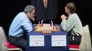 Kasparov vs Bareev LIVE finale coupe du monde 2001