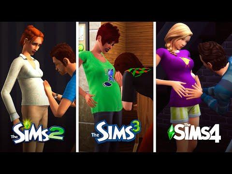 Беременность в The Sims | Сравнение 3 частей