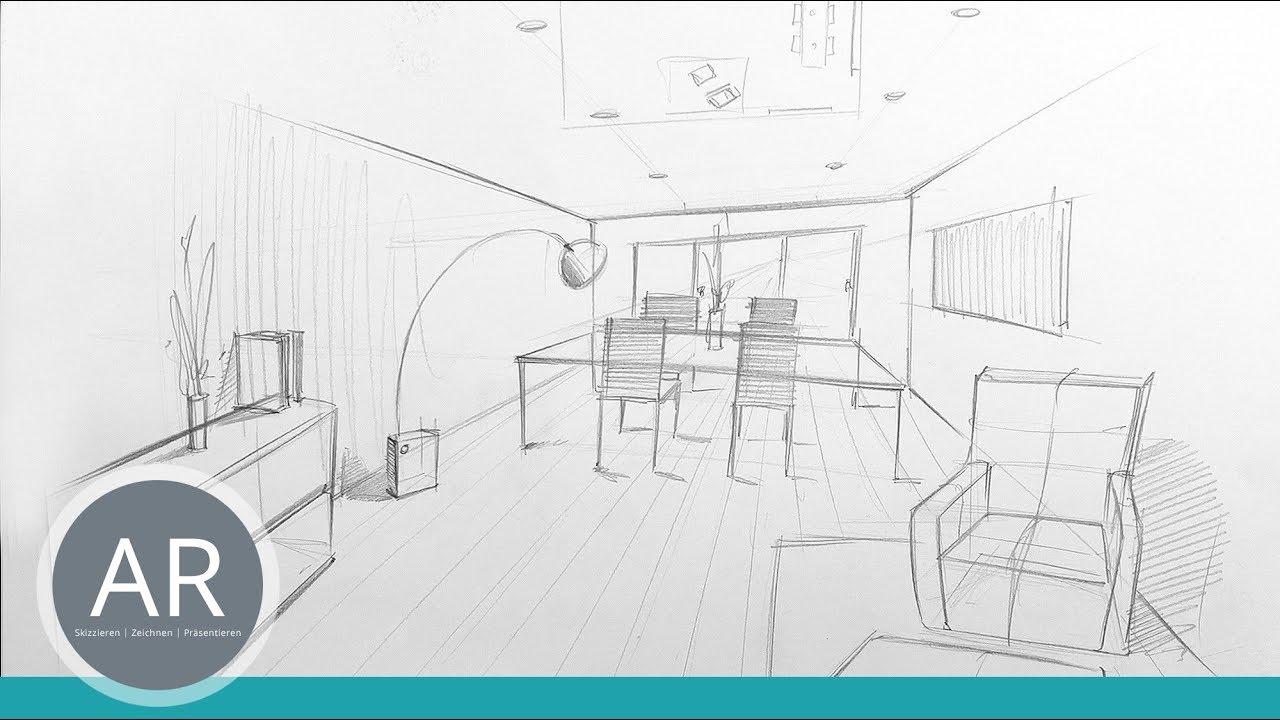 Innenarchitektur Studium Nürnberg räume schnell zeichnen lernen innenarchitektur skizzen mappenkurs