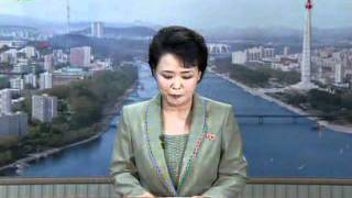 North Korea Television- Station opening for afternoon broadcasting, part of news and mini drama