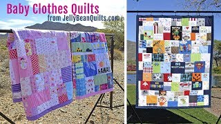 Baby Clothes Quilts - Get a custom baby clothes quilt from Jelly Bean Quilts