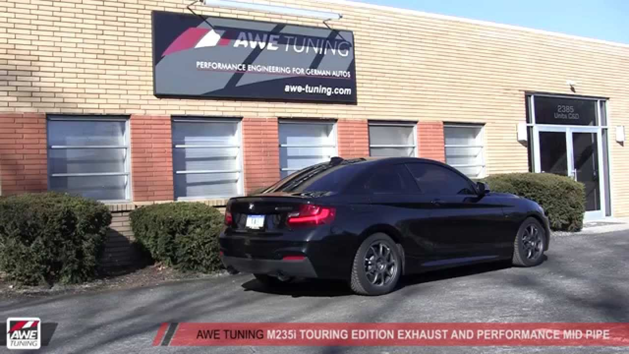 awe tuning bmw f22 m235i touring edition exhaust with. Black Bedroom Furniture Sets. Home Design Ideas