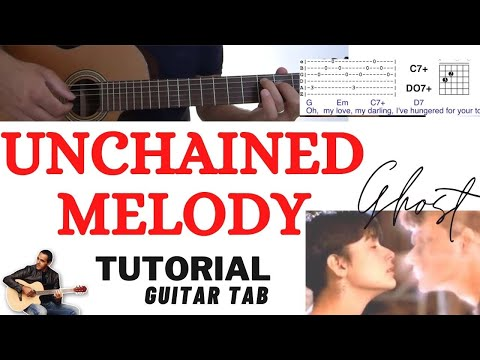 Unchained Melody (Ghost) - Easy Guitar Lesson - Righteous Brothers