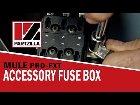 Installing A Fuse Box On A Kawasaki Mule Partzilla Com Youtube