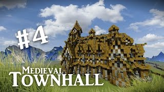 minecraft medieval town hall tutorial walls