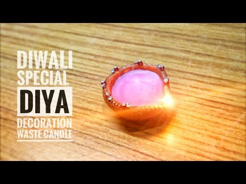 How To Decorate Diya With Waste Materials || Diwali Special (Royal Craftbox)
