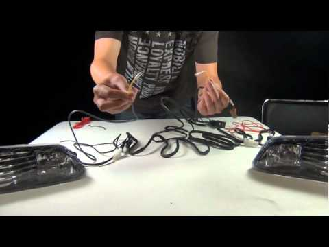 hqdefault fog light wiring instructions mpg youtube how to install fog light wiring harness at readyjetset.co