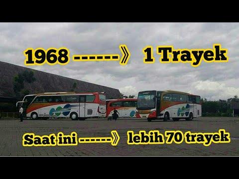 Kisah bus kramat djati dari hanya satu trayek sekarang sudah lebih dari 70 trayek jurusan.
