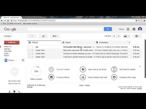 How to Send Many Email Using One Gmail With Google Docs - 2016
