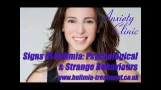 Signs Of Bulimia - Psychological & Strange Behaviours