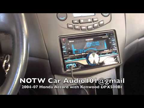 2005 Honda Accord Lx >> 2003-07 Honda Accord with Kenwood DPX500BT radio - YouTube