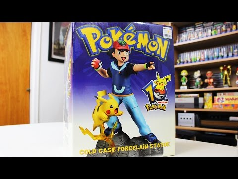Pokemon 10th Anniversary Pikachu and Ash Statue Unboxing!
