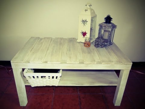 DIY - Tavolo da salotto Shabby Chic / DIY Shabby chic coffee table ...