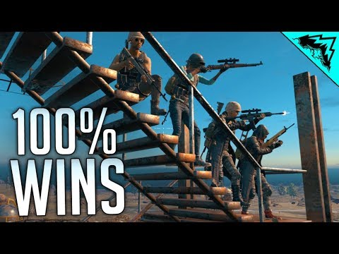 100% WINS - PlayerUnknown's Battlegrounds Gameplay (ft. Doom49, LevelCapGaming, 5tat, Stodeh)
