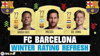 Fifa 20 | fc barcelona winter rating refresh! ft. messi, ansu fati, de jong... etc refresh prediction #fifa20 #barcelona #winter #ratingrefresh #u...
