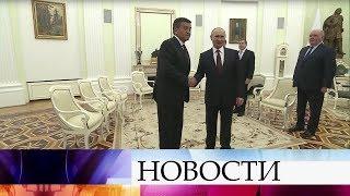 Владимир Путин встретился спрезидентом Киргизии Сооронбаем Жээнбековым.